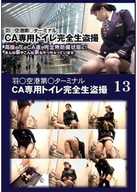 羽○空港第○ターミナルCA専用トイレ完全生盗撮 013